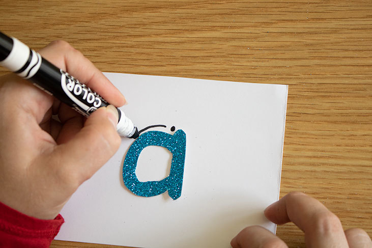 DIY Sensory Letters for letter recognition and formation learning. Hands-on worksheet free letter writing activities for kids.