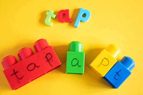 Build the word a simple and easy activity with your child as they learn the first basic words to read, write and spell.