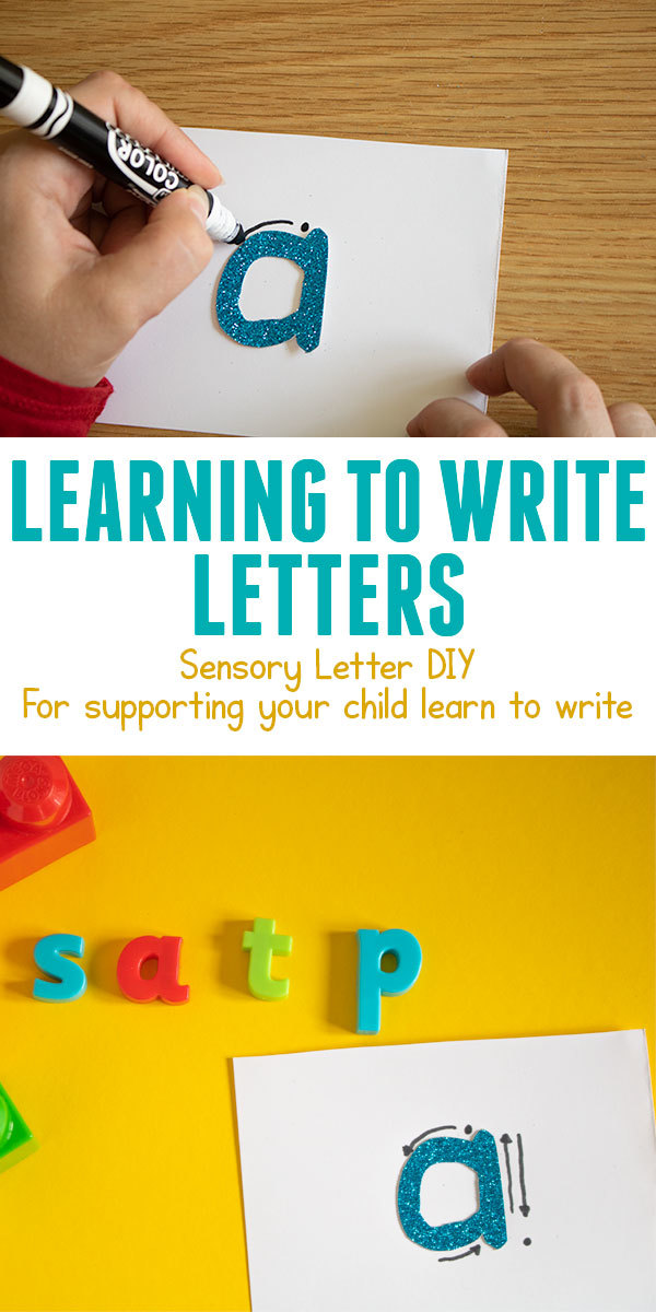 Learning to write letters with the correct formation. Try these sensory letter cards to make and use.