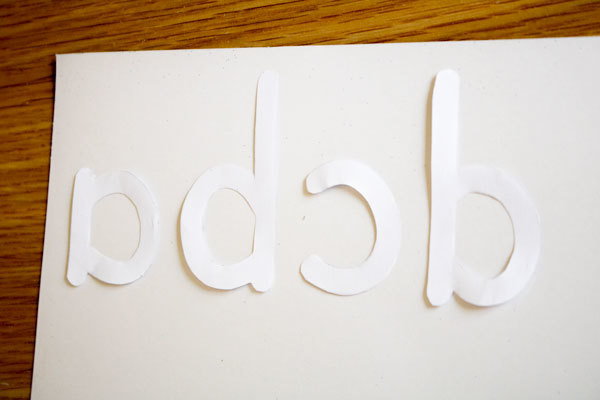 Using letter templates create your own DIY sensory letter cards - don't forget to mirror the letters so that they are correct when cut out.