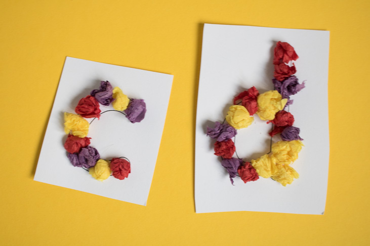Homemade sensory letters with tissue paper-1