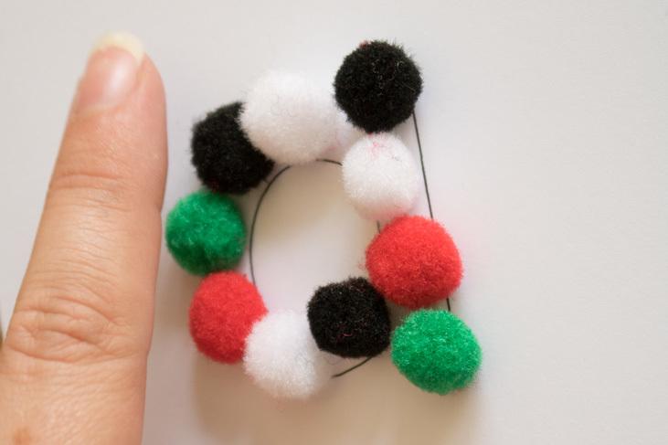 Handmade Pom Pom Sensory Alphabet
