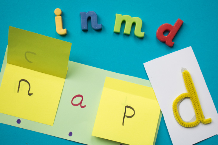 Picture showing the letters to learn in week 2 of Phonics phase 2 with some activities