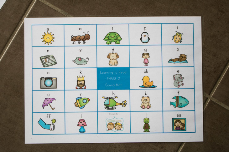 Using sounds mat to aid your child in their writing journey