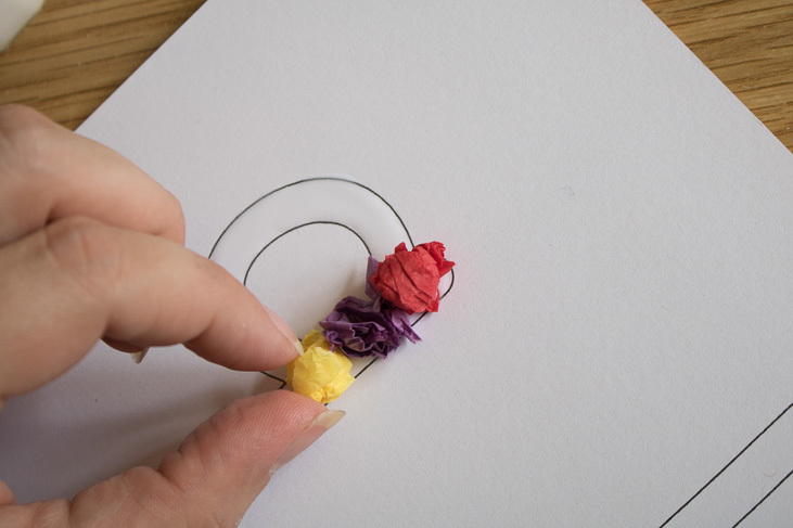 step by step guide to making tissue paper sensory letters wth kids-4