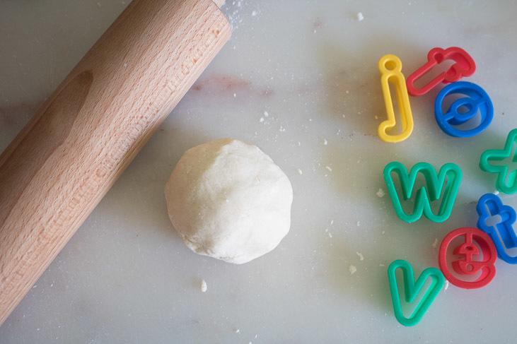 salt dough letter making