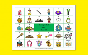 Phase 3 phonics sound mat to support learning to read with your child