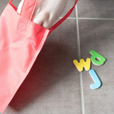 Sensory Bag Letters: Feel and Find
