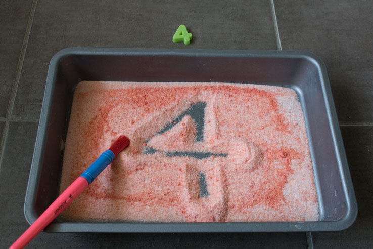 using the salt tray to support learning of numbers