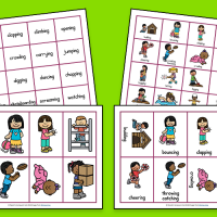 Verb Cards and Word Maps
