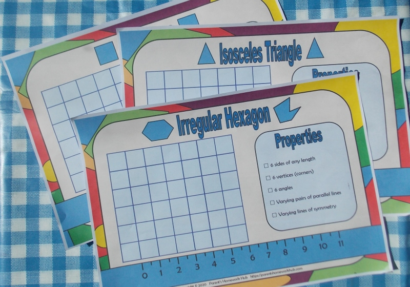 play dough shape mats for older learners