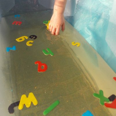 Water Play with Letters