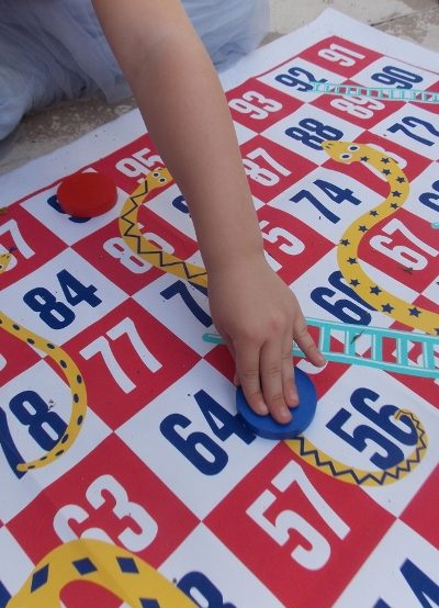 giant snakes & ladders for times table practise